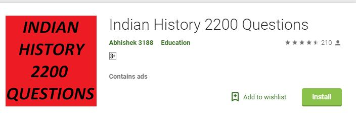 Indian History 2,200 Questions