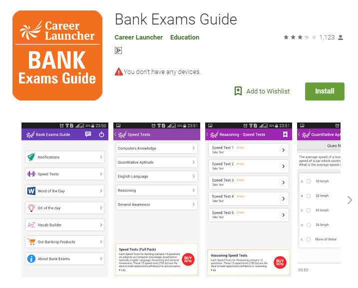 career launcher MBA-Best Apps for bank exam preparations-Bank Exams Guide