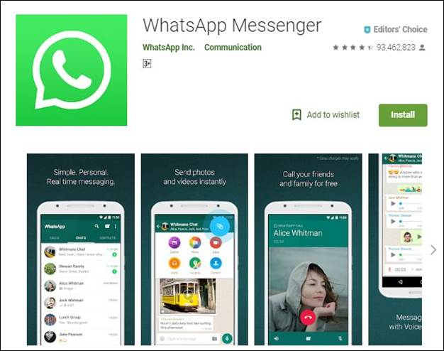 WhatsApp-10 Must have Android Apps