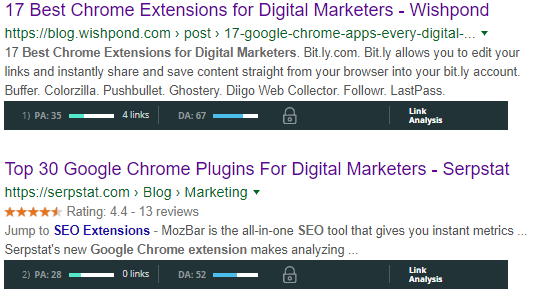 Best SEO Chrome Extensions for Digital Marketer and SEO-MozBar