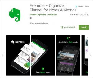 Evernote-10 Must have Android Apps
