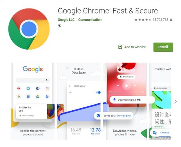 Google Chrome-10 Must have Android Apps