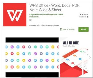 WPS Office-10 Must have Android Apps