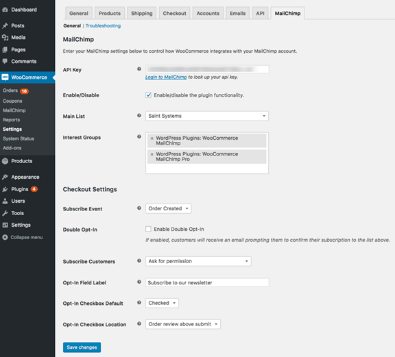 woocommerce wordpress plugin and extensions free download-MailChimp