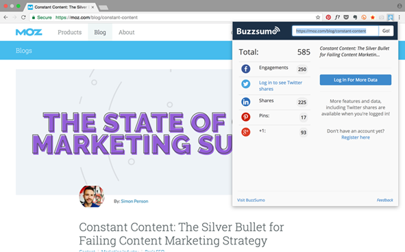 Buzzsumo Extension