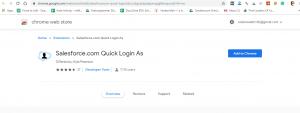 salesforce google chrome extensions-sales force login