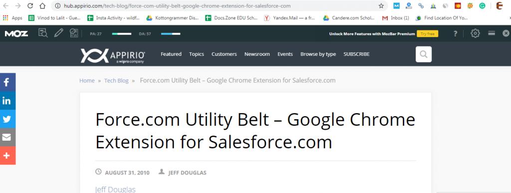 salesforce google chrome extensions-Force.com Utility Belt