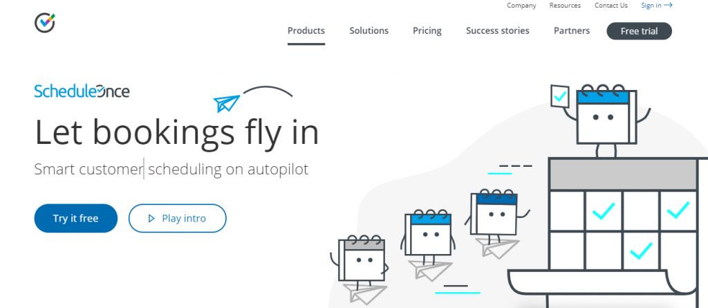 scheduleonce-Let bookings fly in