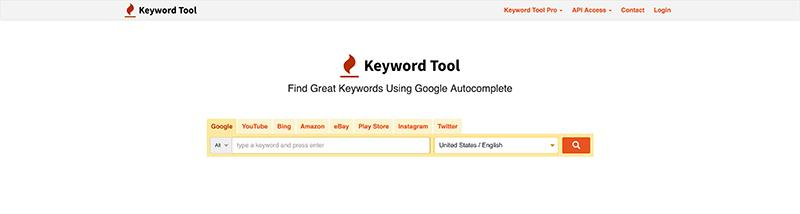 KeywordTool.io-Free SEO Tools for Keywords Research
