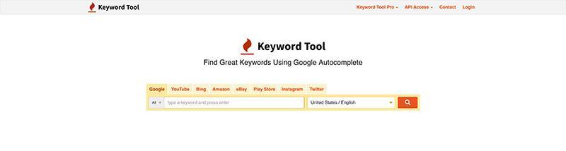 KeywordTool.io-Free SEO Tools for Keywords Research