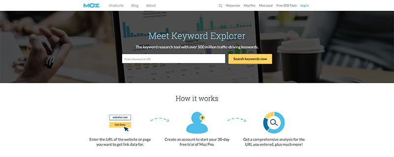 Moz Keyword Explorer-Free SEO Tools for Keywords Research