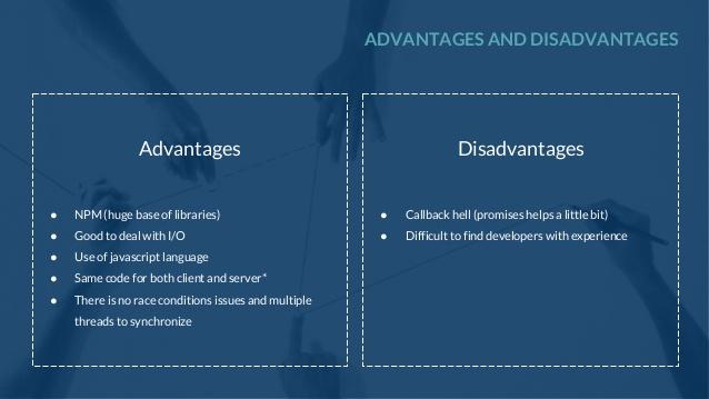 Disadvantages node js