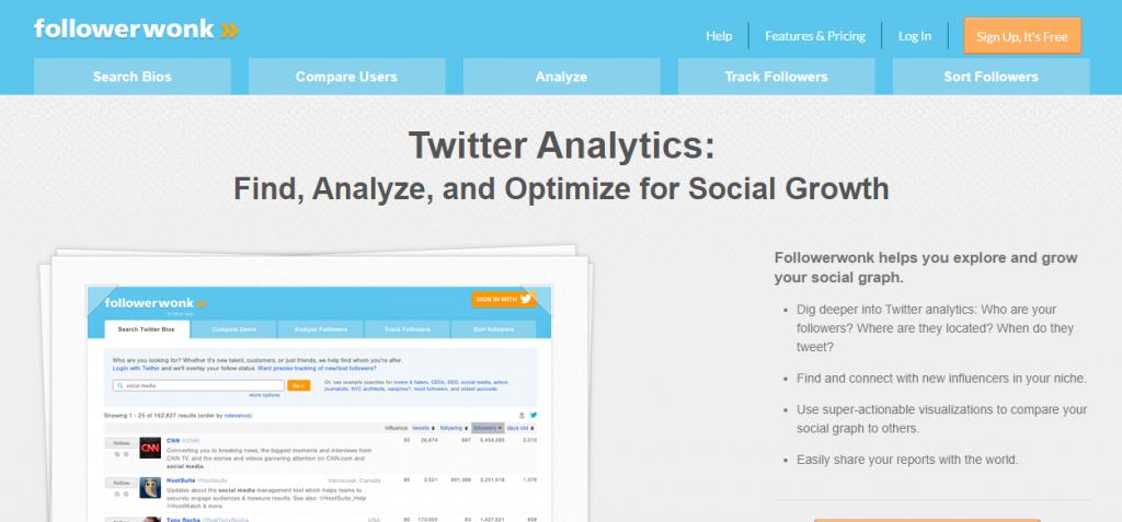 top free social media marketing tools online-Follower Wonk