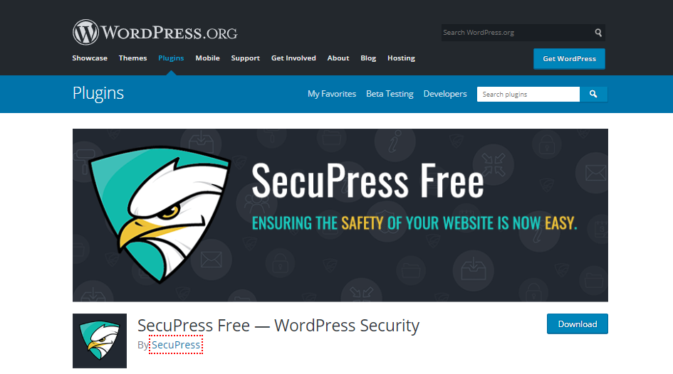 best free security plugins for wordpress-SecuPress