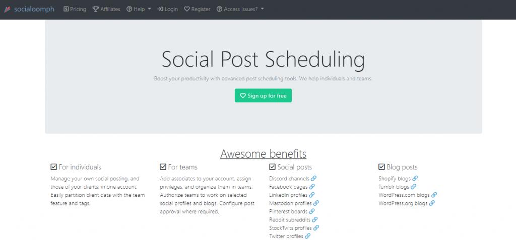 top free social media marketing tools online-SocialOomph