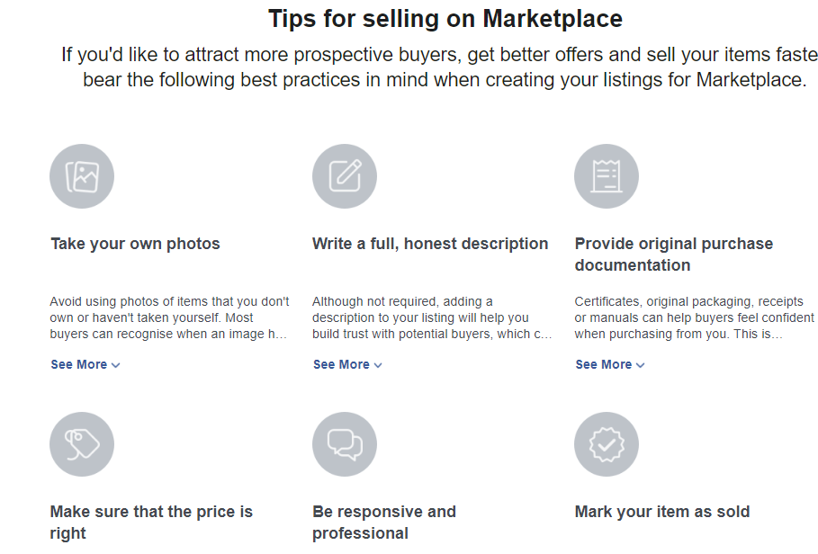 Tips for selling on Marketplace
