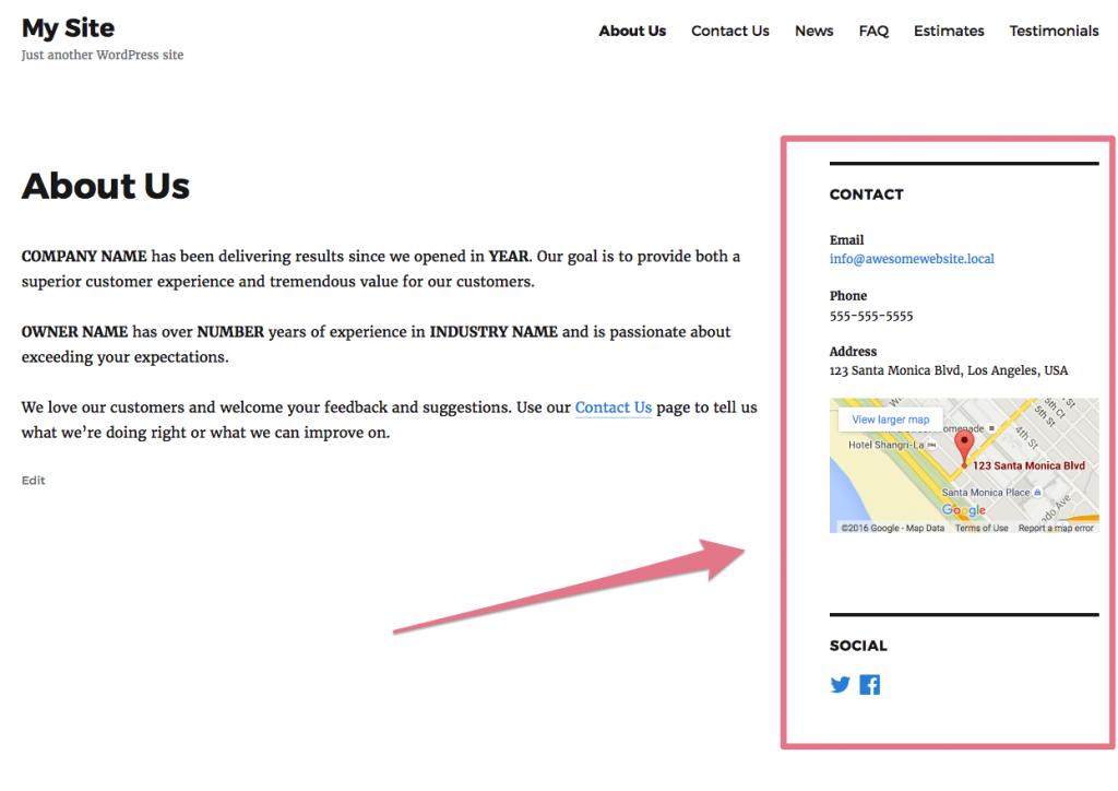 Best WordPress Sidebar Widgets Download-Business contact widget