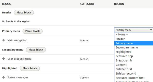 Drupal 8 Block Feature Utilization
