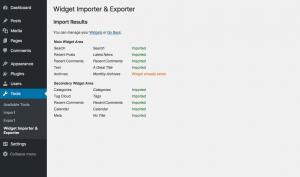 Best WordPress Sidebar Widgets Download-Widget importer and exporter