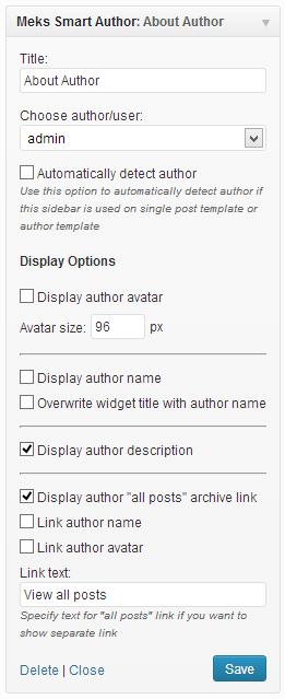 Best WordPress Sidebar Widgets Download-Meks smart author widget