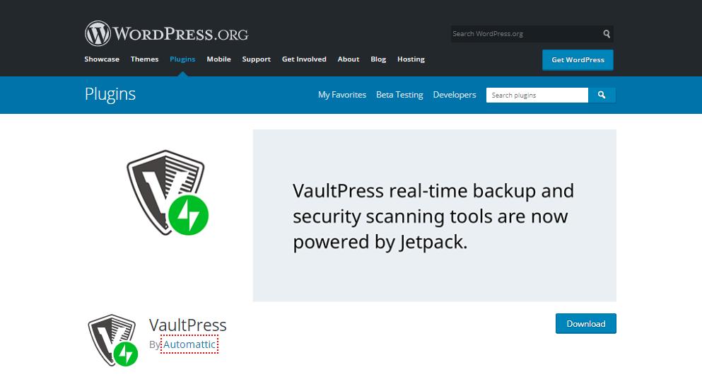 best free security plugins for wordpress-VaultPress