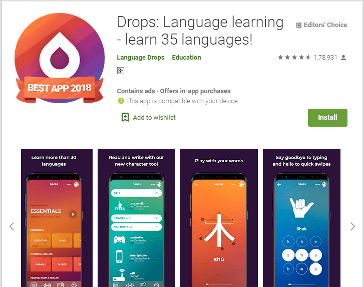 Drops Language learning-English Learning Apps