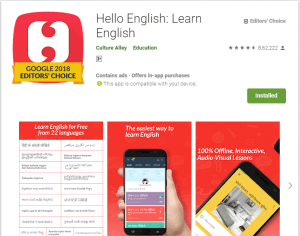 Hellow English-English Learning Apps