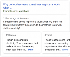 Question Pages-Examples of Rich Snippets