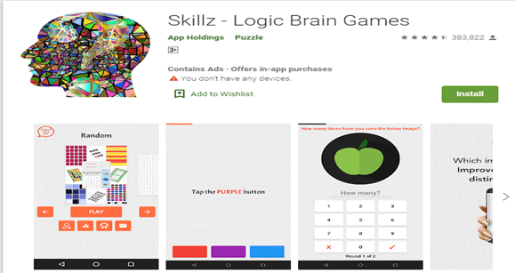 Top Android Gaming Apps for Brainstorming-Skillz - Logic Brain Games