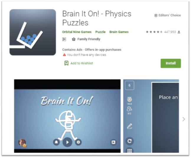 Top Android Gaming Apps for Brainstorming-LogiBrain It On! - Physics Puzzles