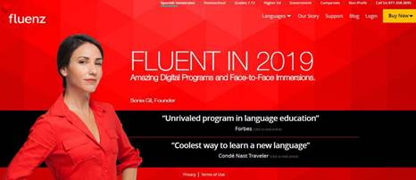 Fluenz-A digital language learning platform
