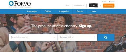Forvo-The pronunciation dictionary