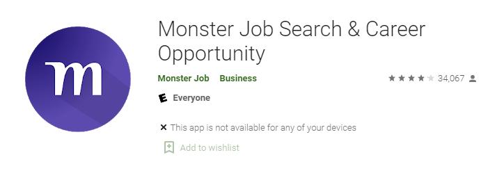 Monster Job Search & Career Opportunity