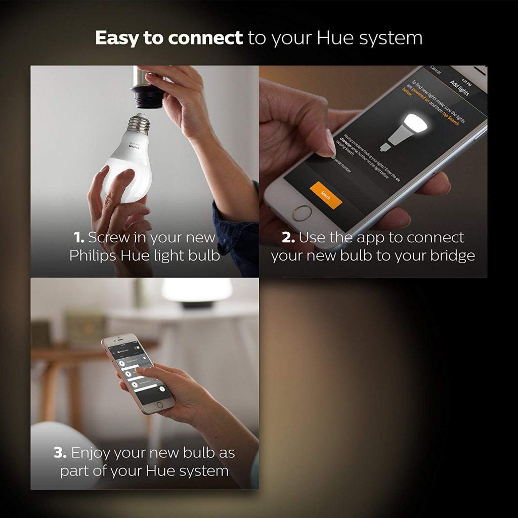 Philips Hue 4-Pack Smart Bulbs
