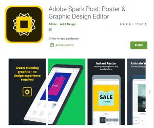 Adobe Spark Post-Make Social Graphics, Short Videos