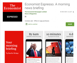 The Economist Espresso-A morning news briefing