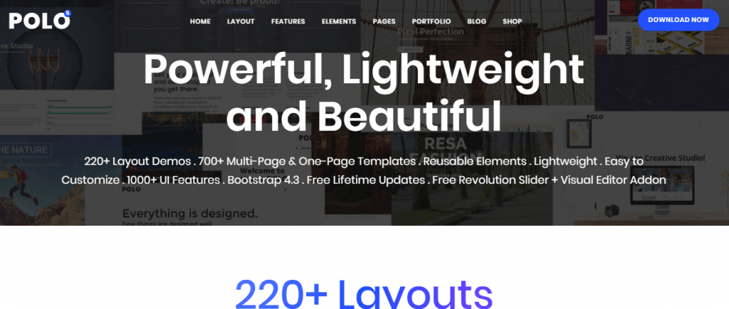 polo-html css blog templates