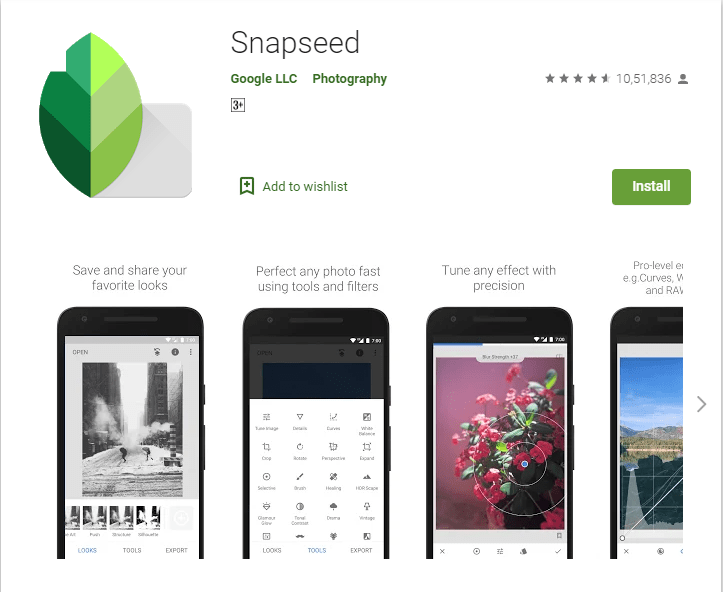 Snapseed-Online Photo Editing App