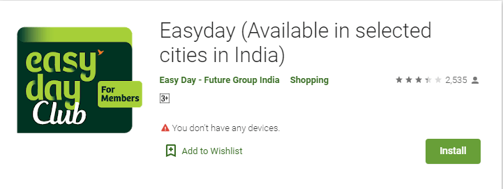 Easyday -Online Grocery Delivery Apps in India
