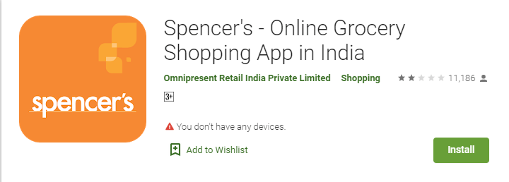 Spencer's - Online Grocery Shopping App in India