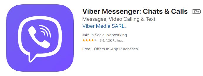 Viber Messenger Chats Calls