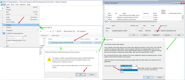Import the upgraded application objects