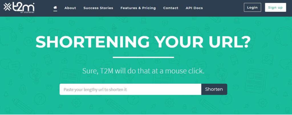 t2m url shortner