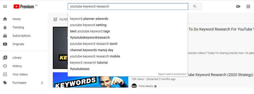 YouTube Autocomplete-best keyword research tool for youtube