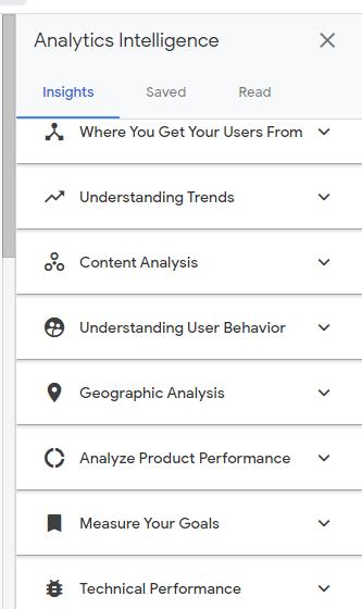 Access Google Analytics Intelligence
