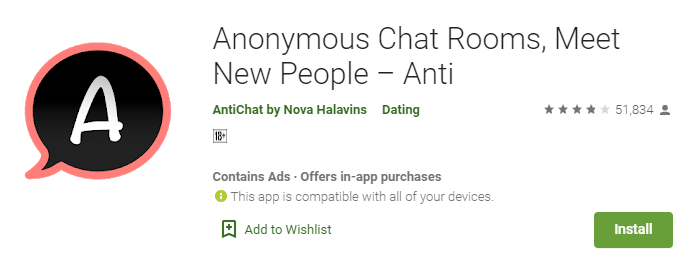 Anonymous Chat Rooms-best stranger chat app without login free