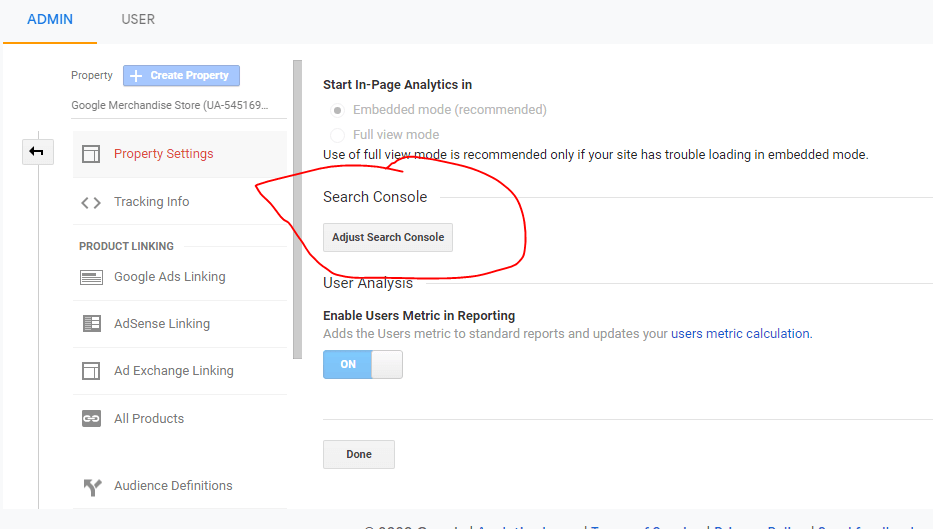 Connect Google Analytics & Google Search Console
