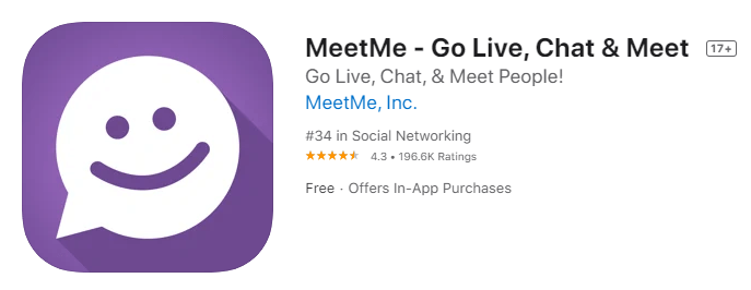 MeetMe-Go Live, Chat & Meet