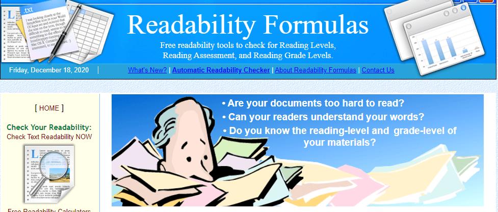 Readabilityformulas