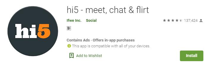 hi5-stranger chat apps in india